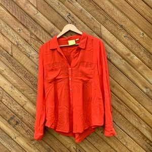Red shirt by Maeve from Anthrologie